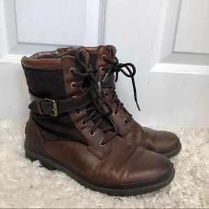 UGG Waterproof Leather Brown Kesey Boots size 7.5